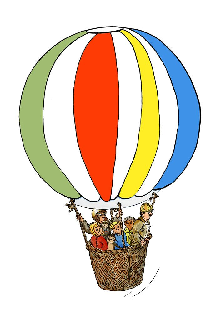 outro ekstra lille ballon med alle